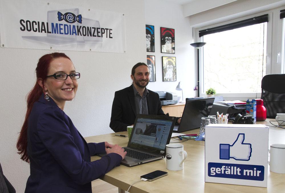 Anja Distelrath und René Bogdanski gründeten ihre Agentur Social Media Konzepte 2011 in Essen. (Foto: Carmen Radeck)