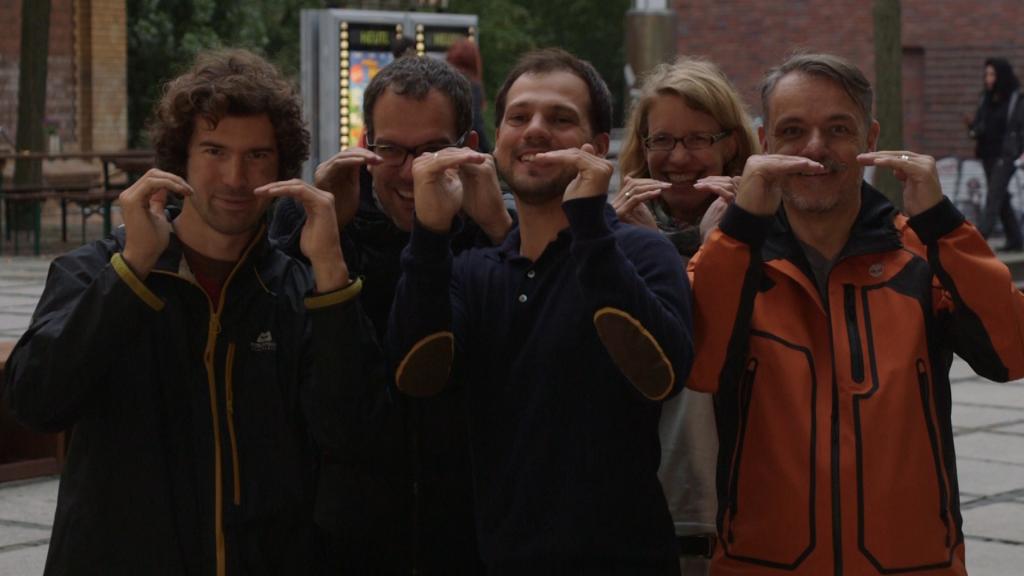 """Das Kernteam des Filmprojekte """"Augenhöhe"""". Der Film über den Wandel in der Arbeitswelt ist am 5. März in Dortmund und am 16. März in Unna zu sehen. (Foto: privat)"""
