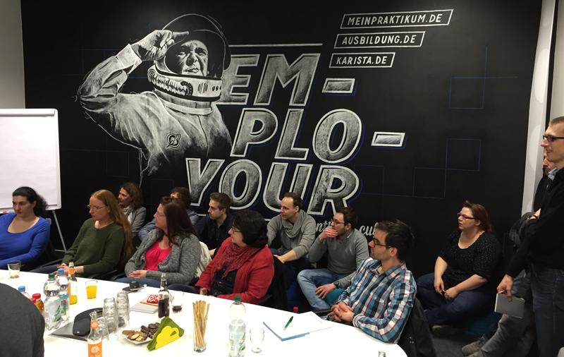 Der Gründerstammtisch Bochum zu Gast bei Employour. (Foto: Holger Manzke)