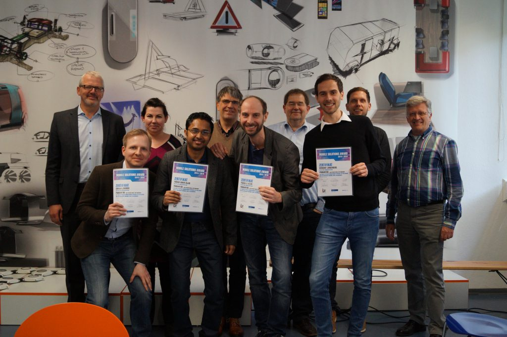 Das Gewinnerteam des Mobile Solution Awards 2015/2016: Probantoo.
