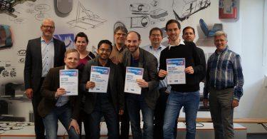 Das Gewinnerteam des Mobile Solution Awards 2015/2016: Probantoo.