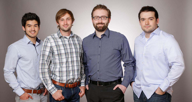 Das Gründerteam von Kaufsafari: Malte Dietrich, David Herzmann, Daniel Kolb, Alexander Vogel