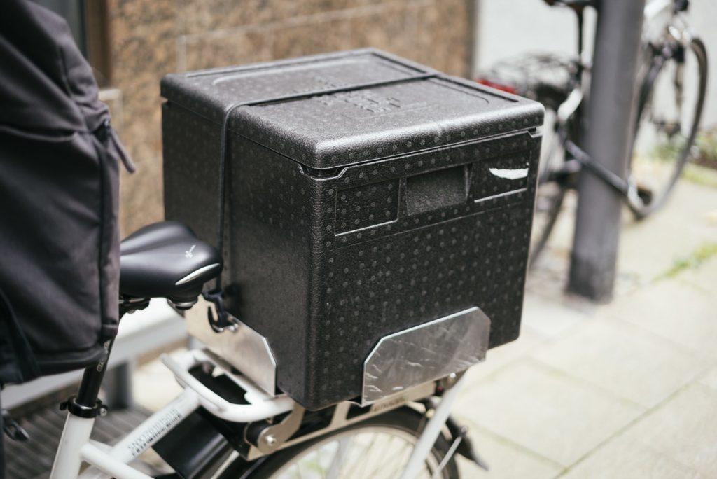 Auslieferung mit dem E-Bike bei Pottsalat