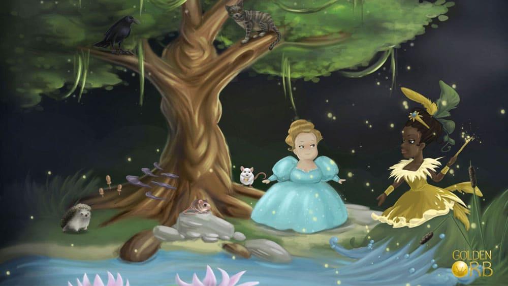 """Eine Szene aus dem Spiel """"Aschenputtel"""" von Golden Orb"""