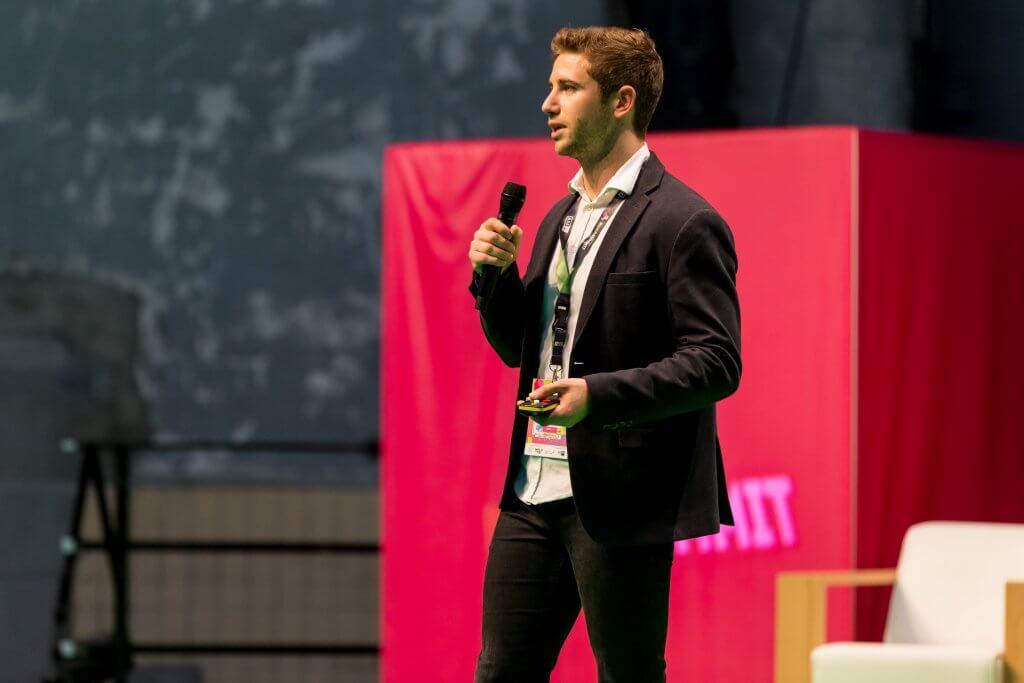 Erik Kolb von finklyn beim RuhrSummit 2018