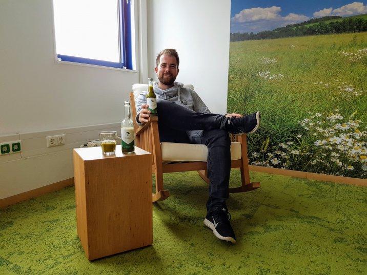 Martin Diekmann lässt seinen eigenes Getränk MA-TEA ist seit 2016 herstellen.